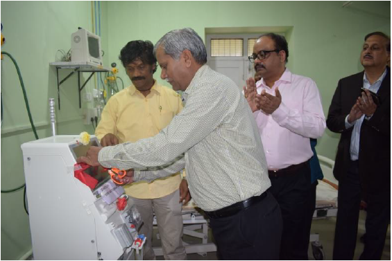 SGF contributes Dialysis Machine