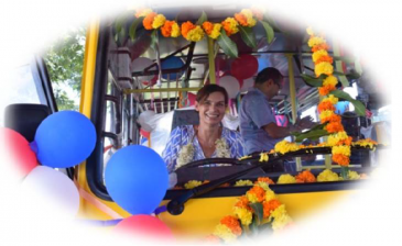 inauguration of the new school bus
